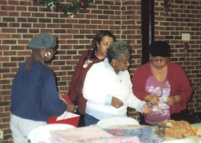 sorting gifts