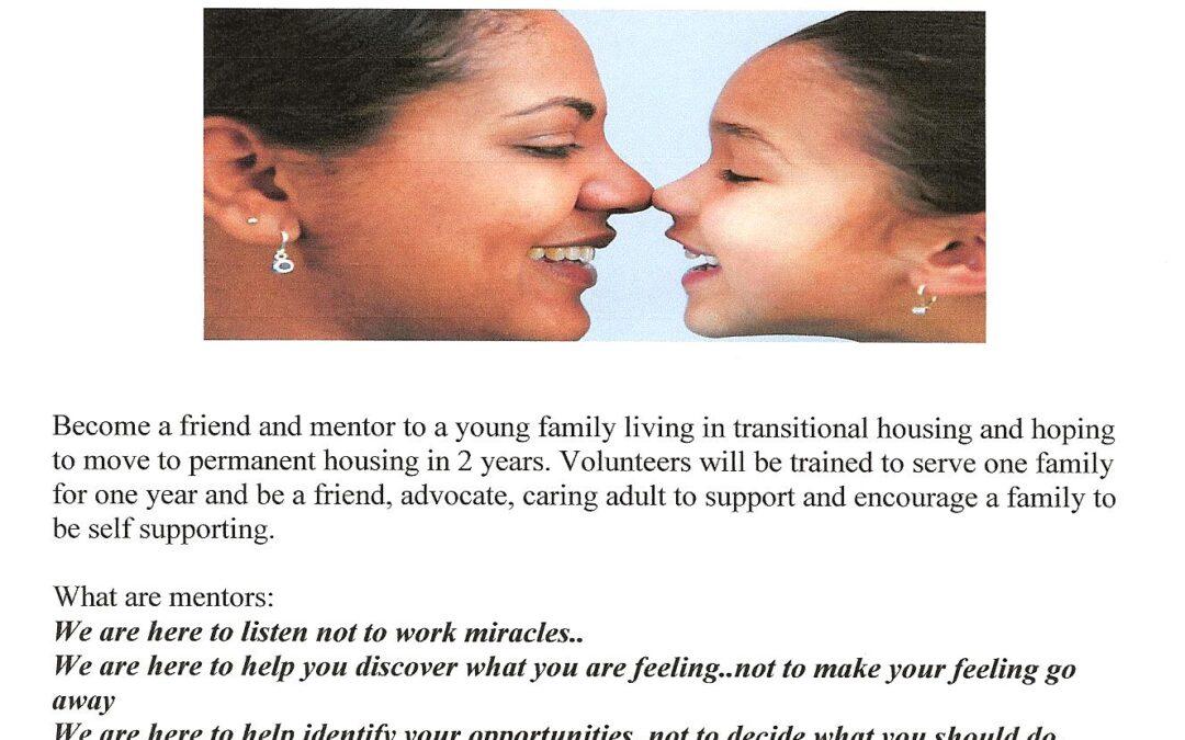 St. Ann's Seeking Volunteer Mentors