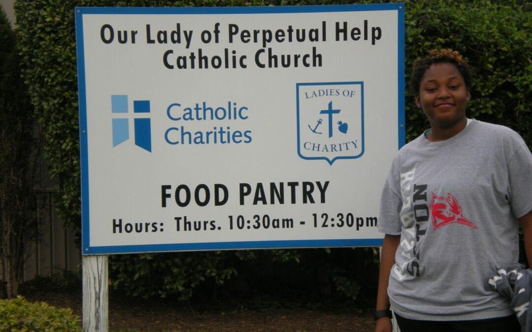 Elizabeth Ann Seton High School Student Working in the Community
